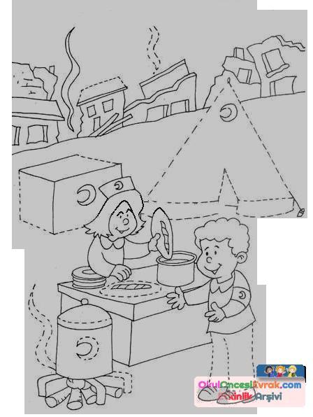Kizilay Haftasi Boyama 6 Copy Preschool Activity