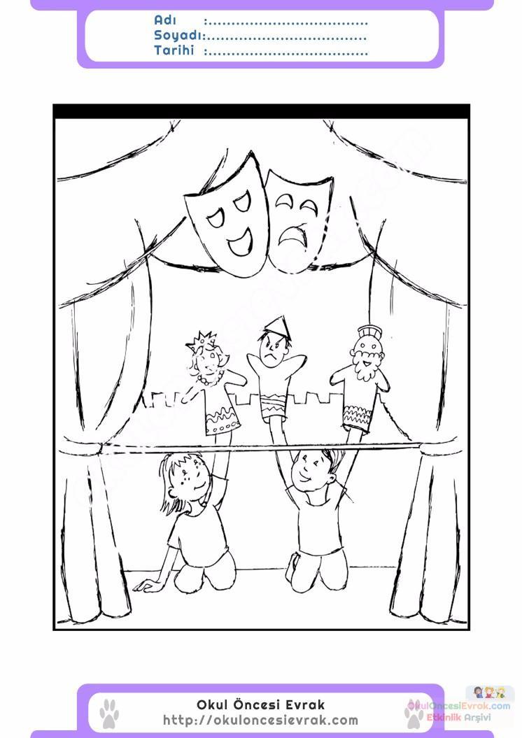 Dünya Tiyatrolar Günü Belirli Gün Ve Haftalar Boyama Sayfası 8 2