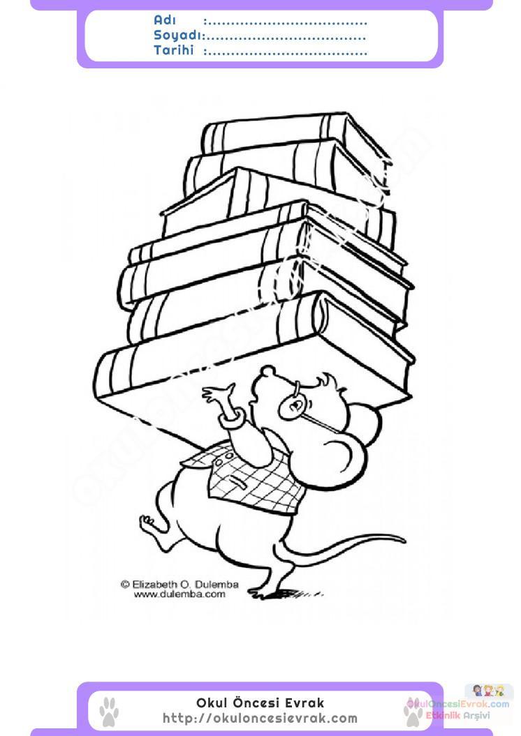 Kütüphaneler Haftası Belirli Gün Ve Haftalar Boyama Sayfası 5