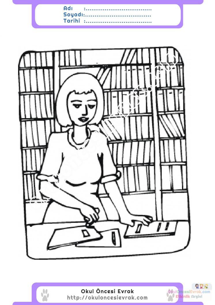 Kütüphaneler Haftası Belirli Gün Ve Haftalar Boyama Sayfası 6