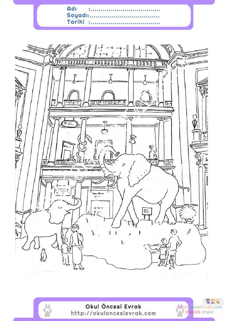Müzeler Haftası Belirli Gün Ve Haftalar Boyama Sayfası 4 Preschool