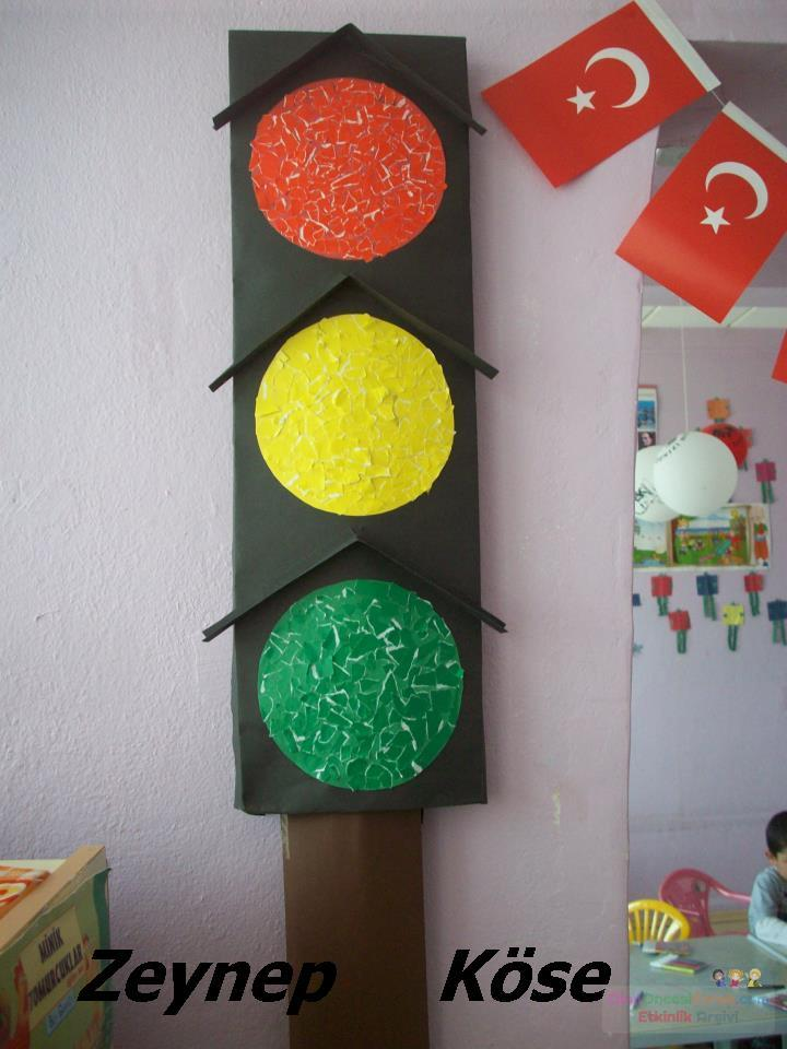 Trafik Lambası Preschool Activity