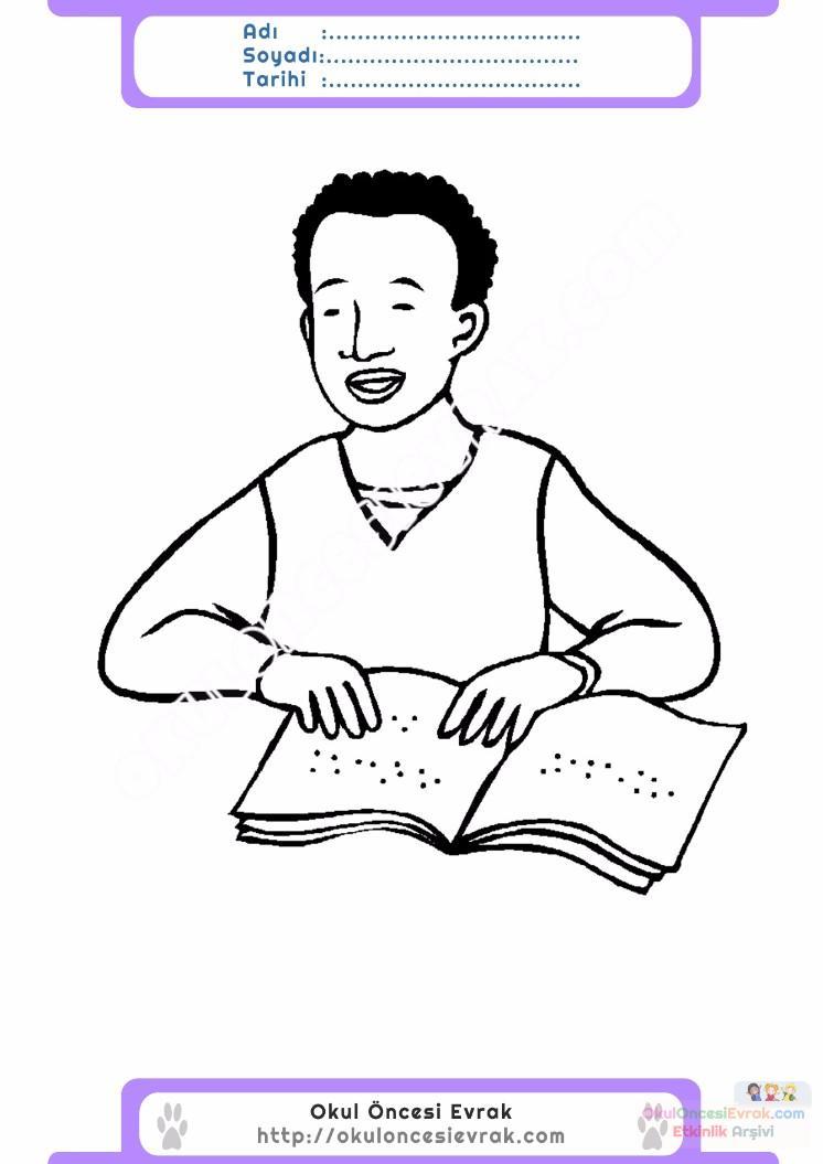 Engelliler Haftası Belirli Gün Ve Haftalar Boyama Sayfası 16