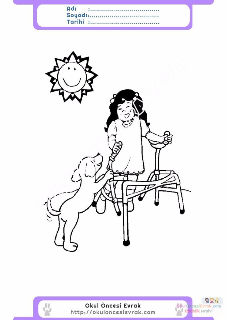 Engelliler Haftası Belirli Gün Ve Haftalar Boyama Sayfası 19