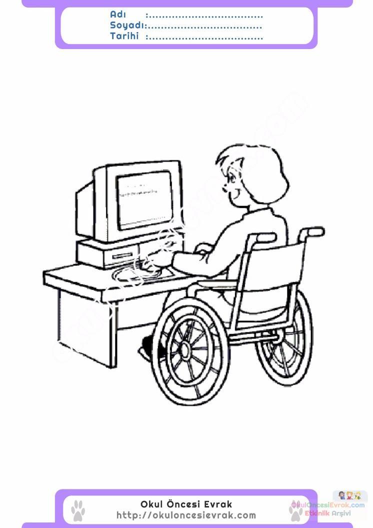 Engelliler Haftası Boyama Sayfası Gazetesujin