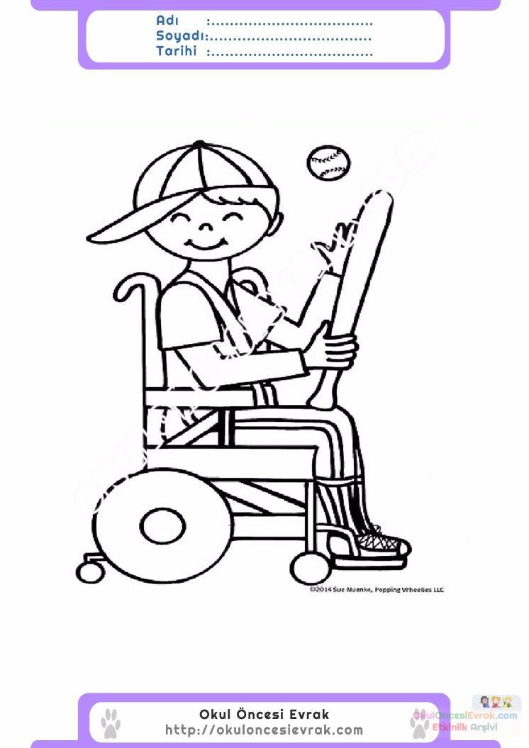 Engelliler Haftası Belirli Gün Ve Haftalar Boyama Sayfası 21