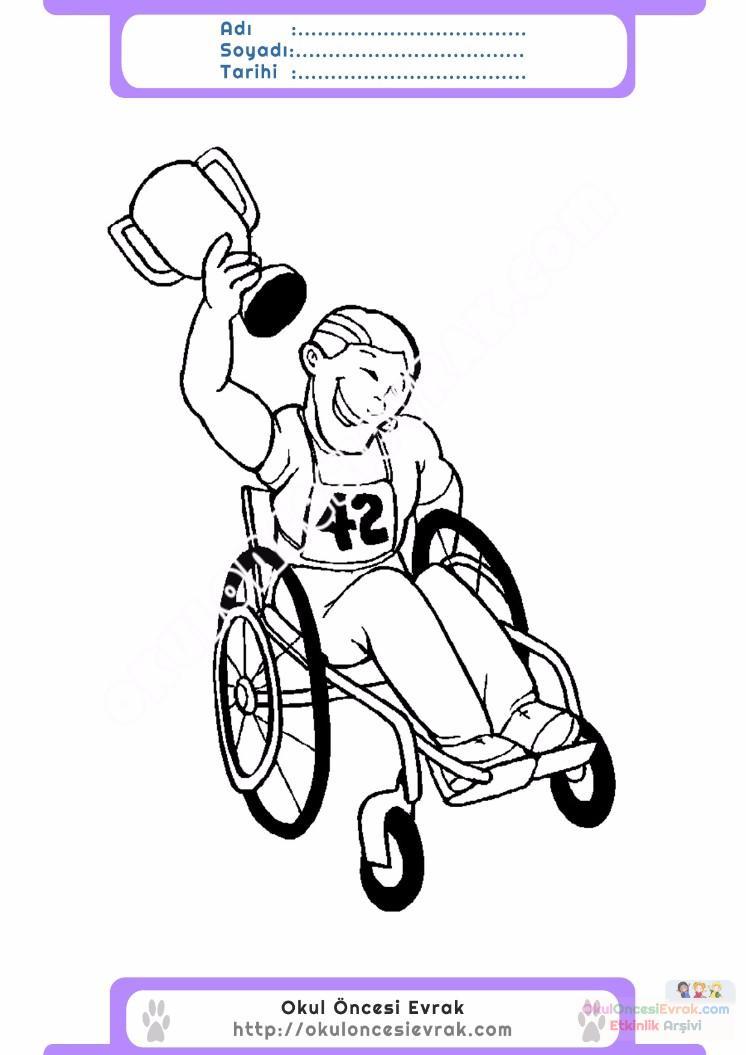 Engelliler Haftası Belirli Gün Ve Haftalar Boyama Sayfası 6