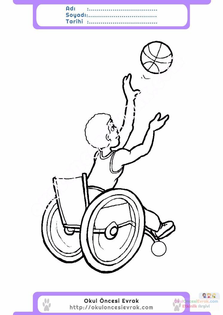 Engelliler Haftası Belirli Gün Ve Haftalar Boyama Sayfası 7