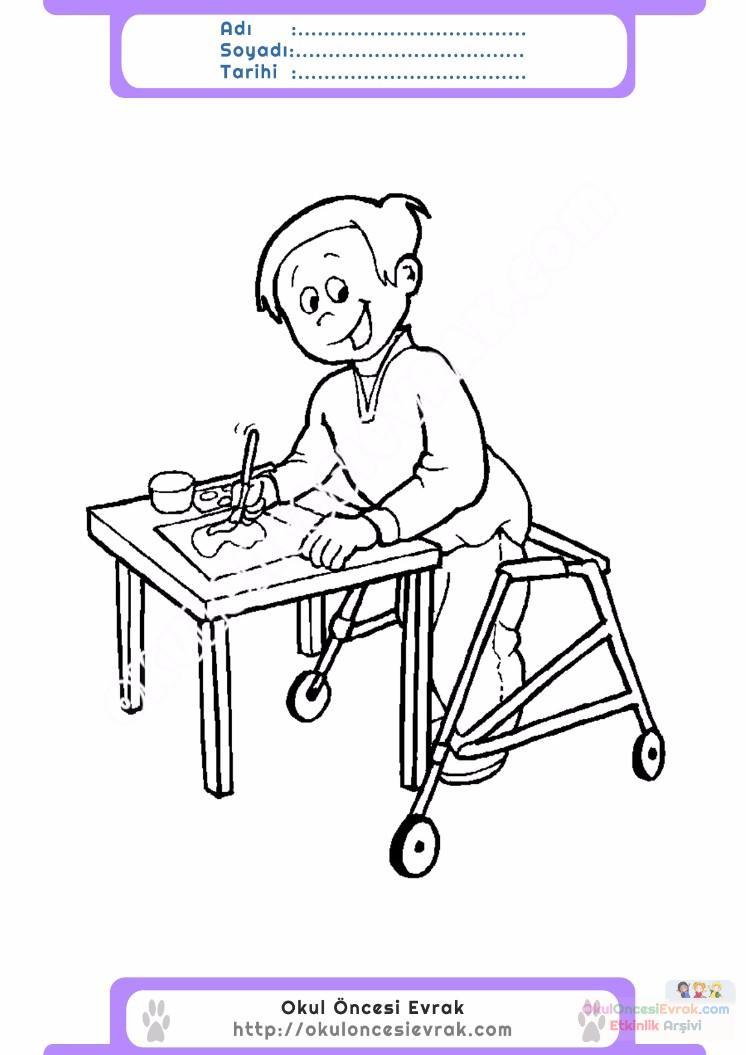 Engelliler Haftası Belirli Gün Ve Haftalar Boyama Sayfası 8