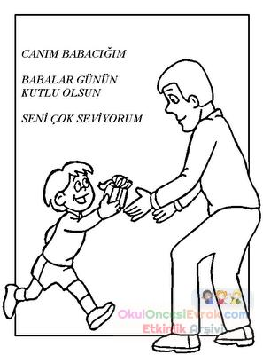 Babalar Gunu Boyama Resimleri Preschool Activity