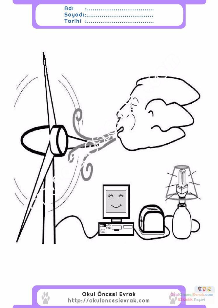 Enerji Tasarrufu Haftası Belirli Gün Ve Haftalar Boyama Sayfası 1