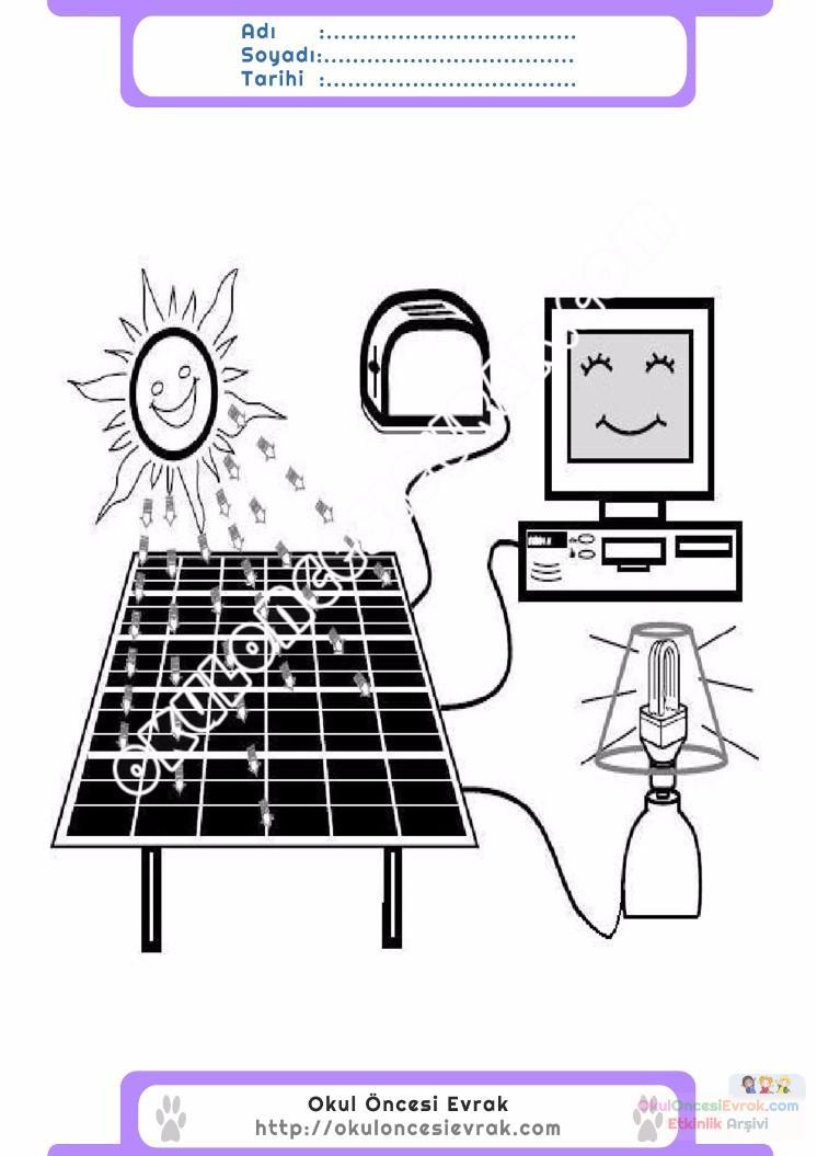 Enerji Tasarrufu Haftası Belirli Gün Ve Haftalar Boyama Sayfası 10