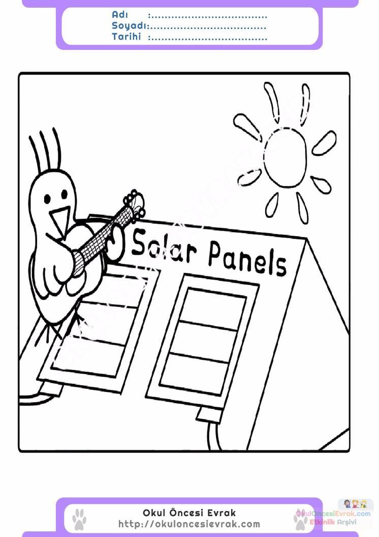 Enerji Tasarrufu Haftası Belirli Gün Ve Haftalar Boyama Sayfası 19
