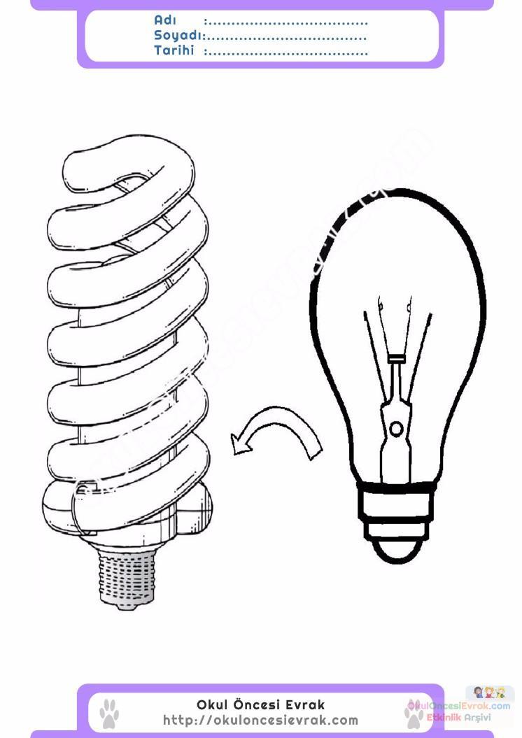 Enerji Tasarrufu Haftası Belirli Gün Ve Haftalar Boyama Sayfası 3
