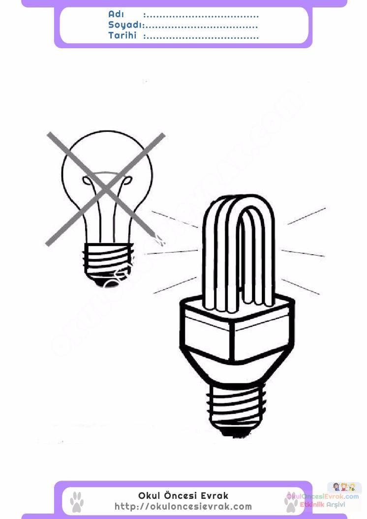 Enerji Tasarrufu Haftası Belirli Gün Ve Haftalar Boyama Sayfası 6