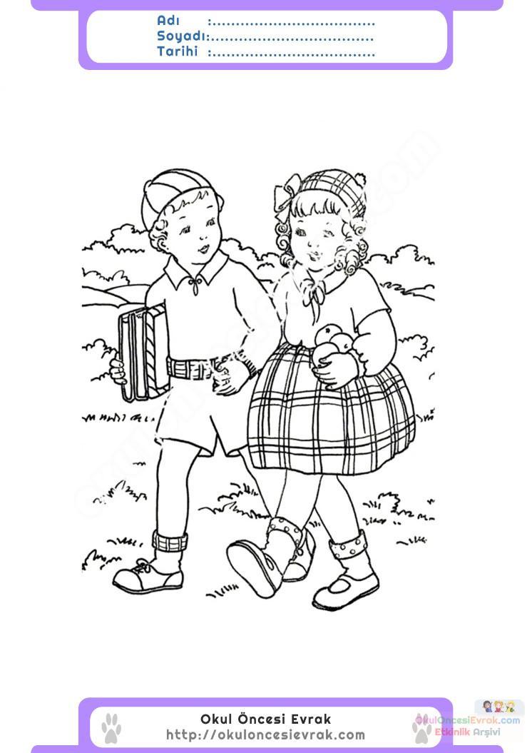 Ilköğretim Haftası Belirli Gün Ve Haftalar Boyama Sayfası 9