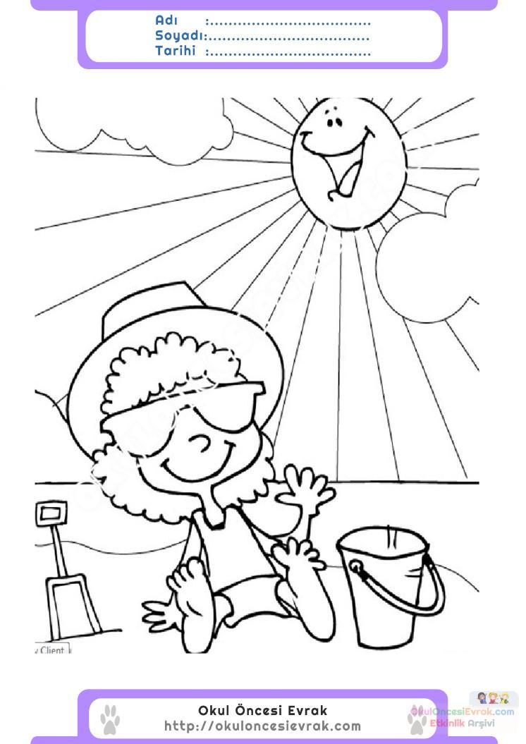 Turizm Haftası Belirli Gün Ve Haftalar Boyama Sayfası 3 Preschool