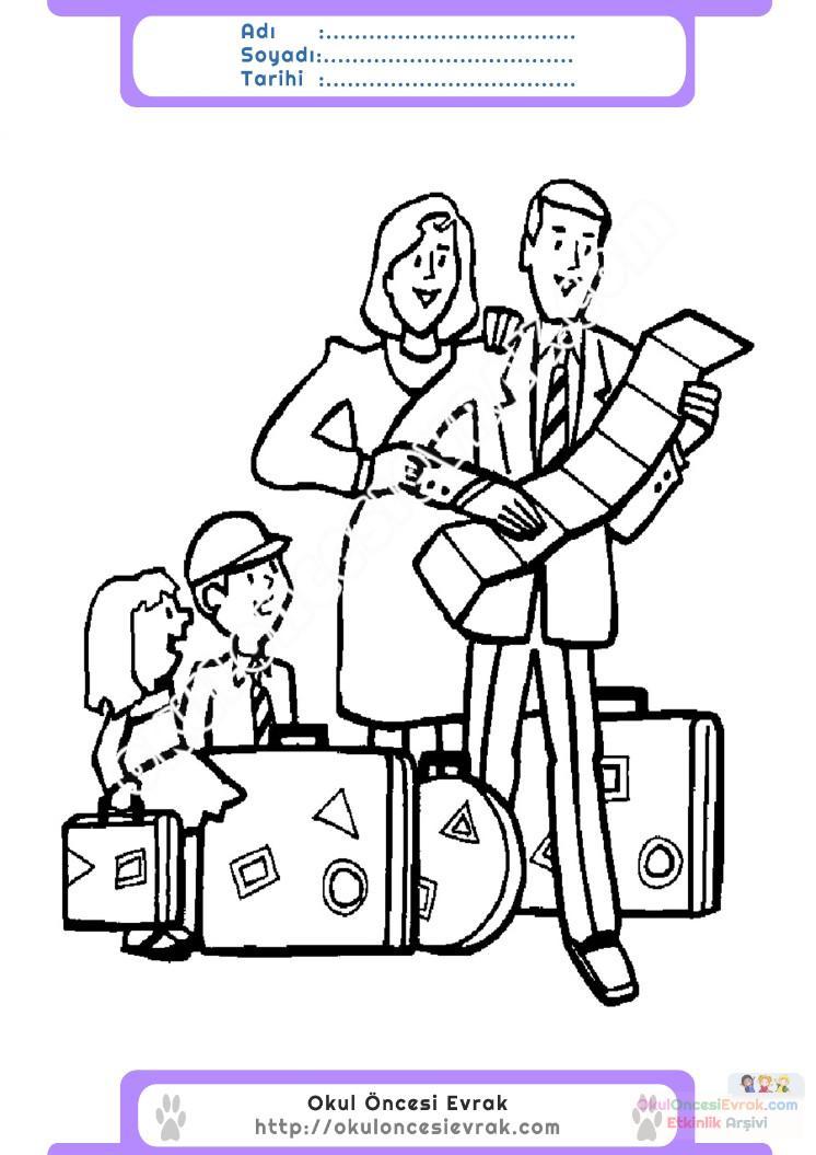 Turizm Haftası Belirli Gün Ve Haftalar Boyama Sayfası 5 Preschool