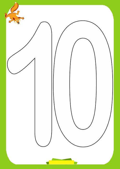 10 Sayisi Boyama 1 Preschool Activity
