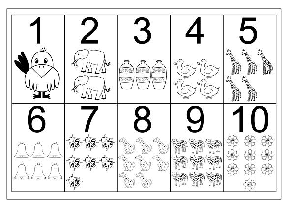 Rakam Boyama Sayfalari 6 Preschool Activity
