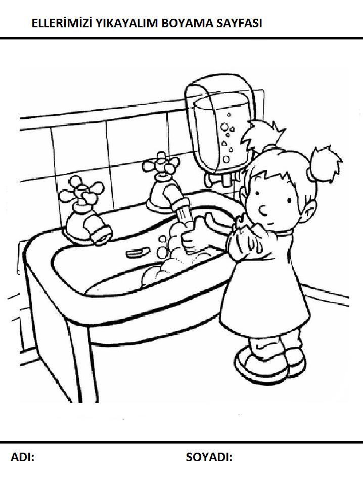 Temizlik Boyama Sayfası Preschool Activity