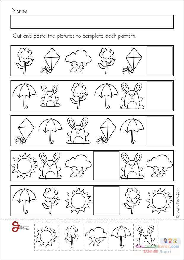 Anasınıfı Ilkbahar Mevsimi örüntü çalışması 1 Preschool Activity