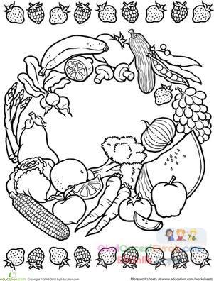 Anasınıfı Meyve Sebze Mandala Boyama 1 Preschool Activity