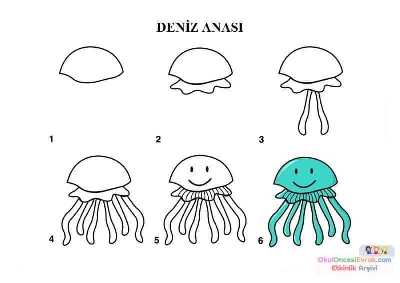 Cartoon Jellyfish coloring page  Free Printable Coloring