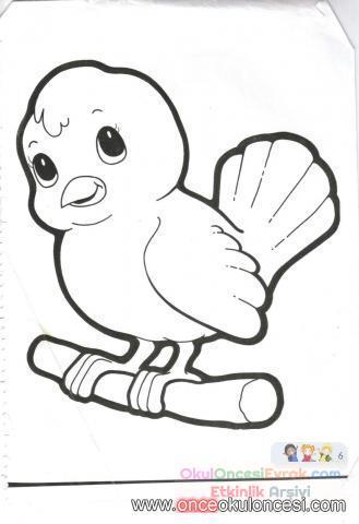 kuş resmi boyama sayfaları resmi | preschool activity