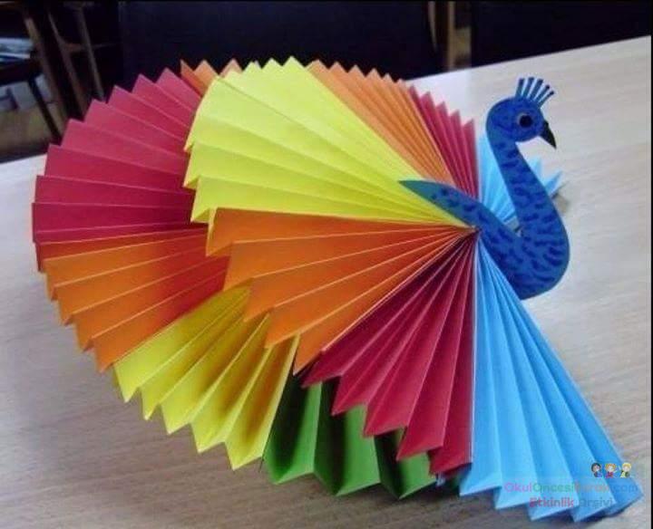 Детское оригами как сделать из цветной бумаги