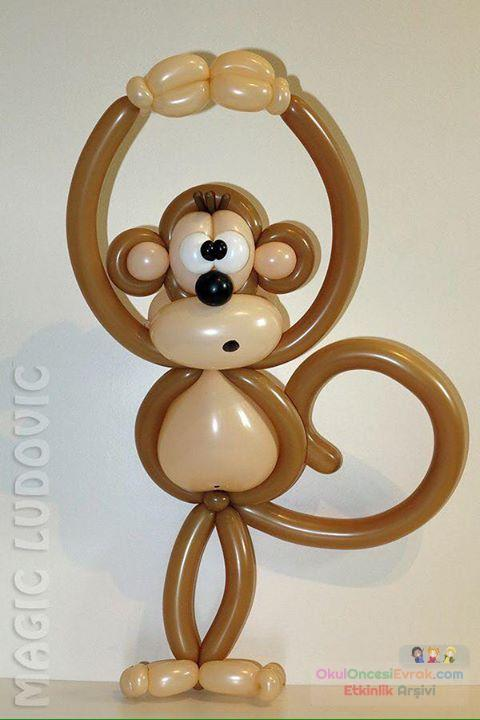 Как сделать обезьяну из шаров своими руками
