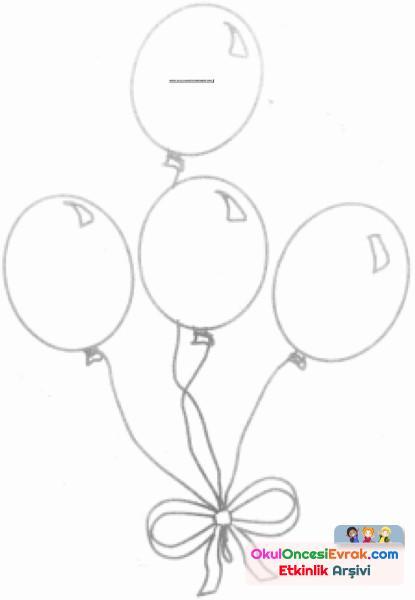 Balonlar Boyama