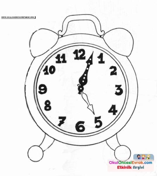 Çalar Saat Boyama
