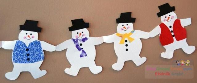 Из бумаги снеговик