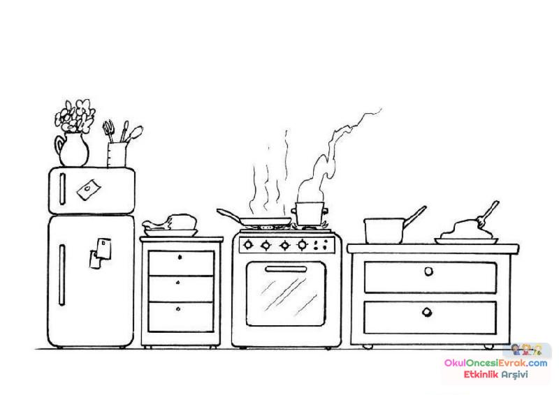 Kitchen Coloring Pages Free Printable Twoj Doktor