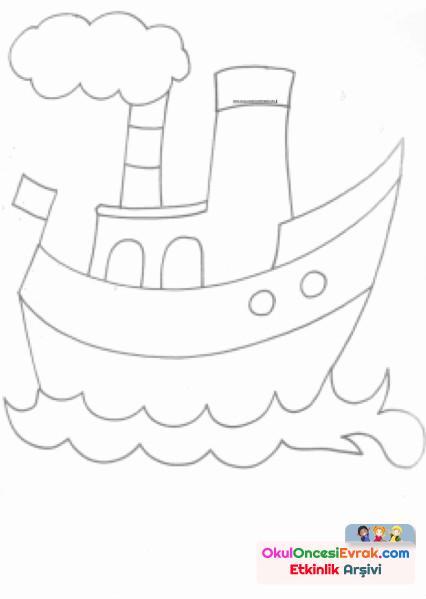 gemi Boyama