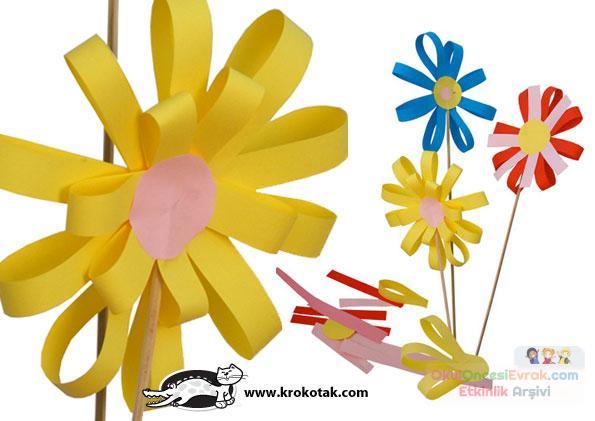 Как сделать с детьми цветы из бумаги