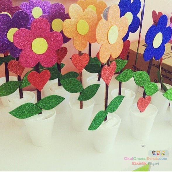 saksıda çiçek evadan