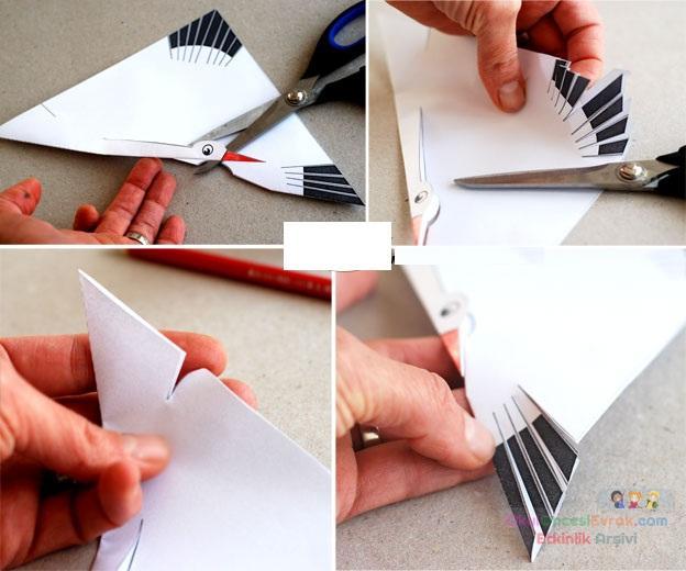 Поделки из белый бумаги видео