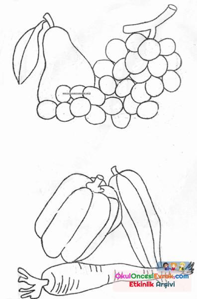 Meyveler Boyama