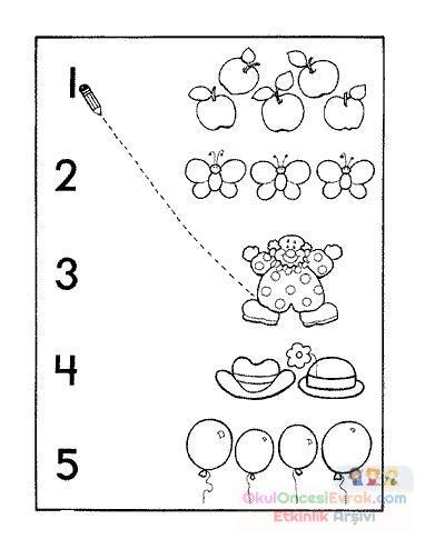 okul öncesinde boyama ve matematık çalişmaları (17)
