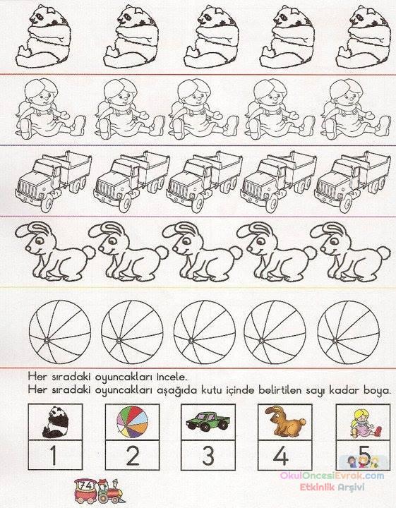 okul öncesinde boyama ve matematık çalişmaları (20)
