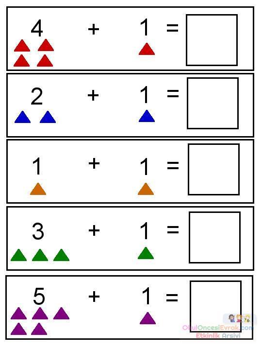 okul öncesinde boyama ve matematık çalişmaları (21)
