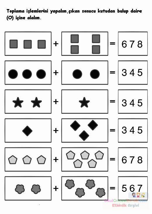 okul öncesinde boyama ve matematık çalişmaları (22)