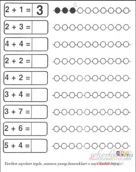okul öncesinde boyama ve matematık çalişmaları (23)