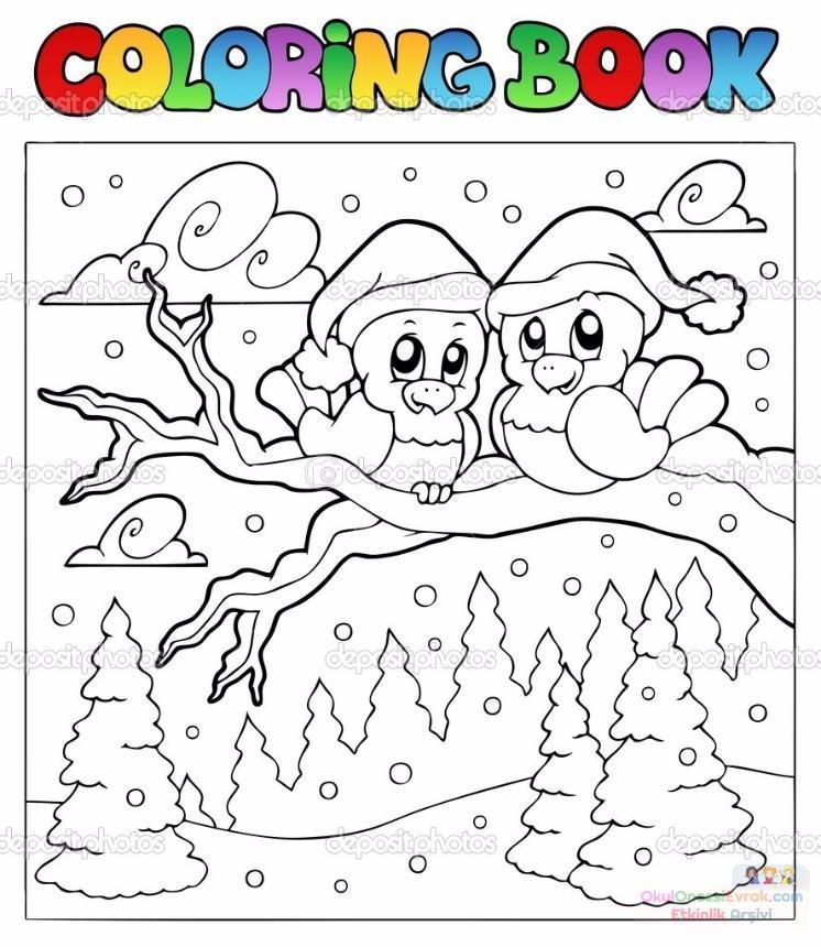 Зима раскраски детей