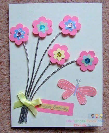 Сделать открытку маме на день рождения своими руками