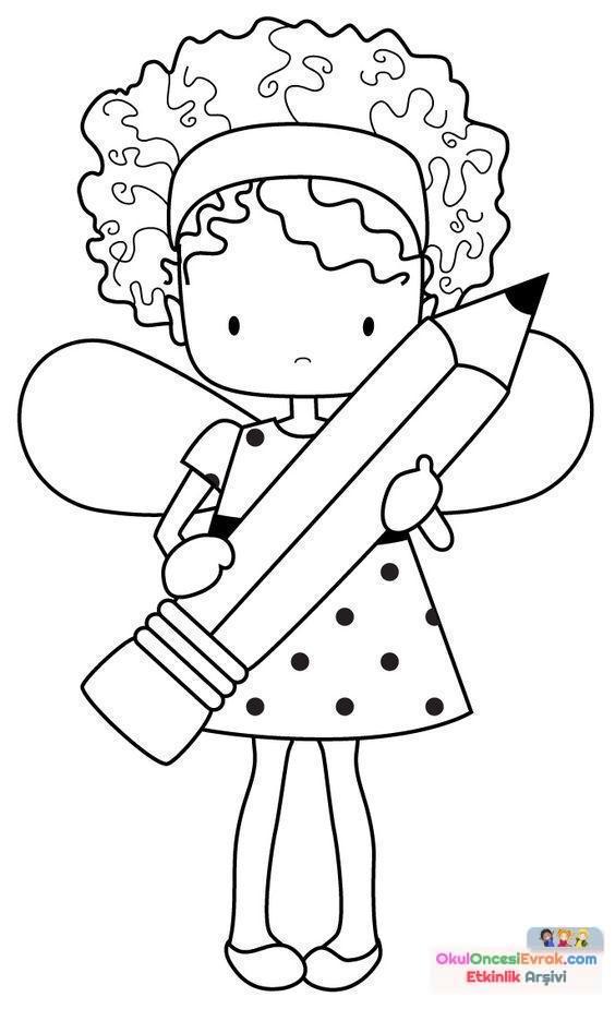 Раскраски для девочек с карандашами