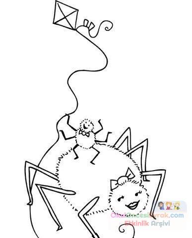 Örümcek Hayvanlar Boyama (637)