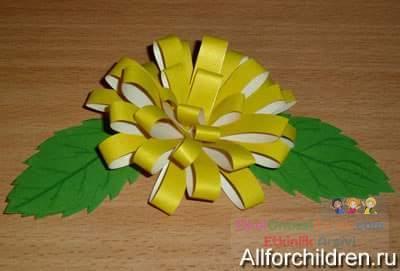 Как сделать хризантему из бумаги своими руками